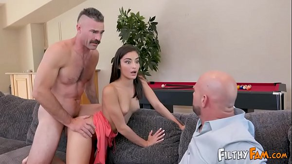 Sexy Teen Slut Emily Willis Fucks Step Uncle & Step Dad Joins In