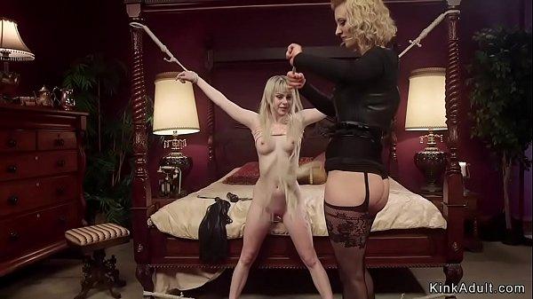 Busty dom anal fucks petite blonde
