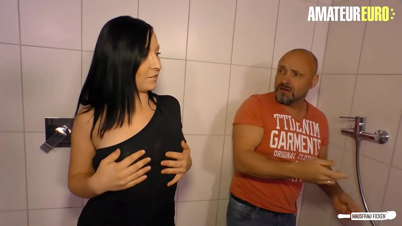 AMATEUR EURO - German Housewife Ashley Dare Cheat BF With Her Bald Plumber