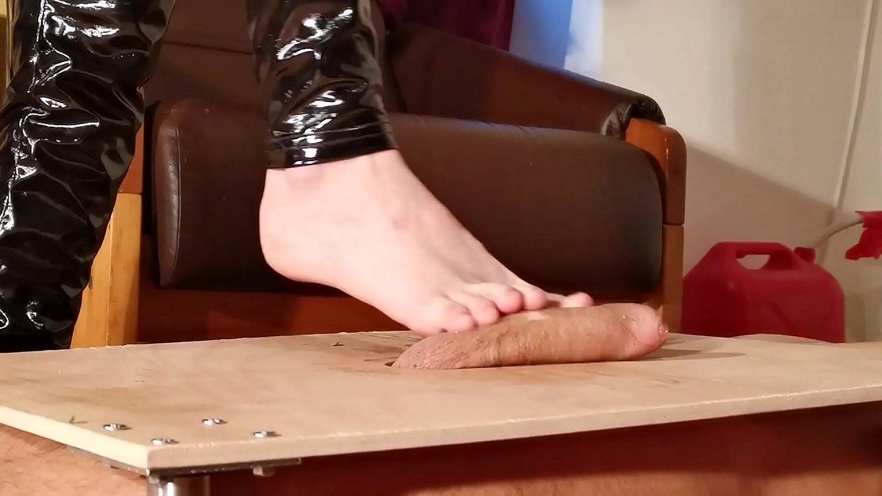 Barefeet cock stomping slapping & massage pt1 HD