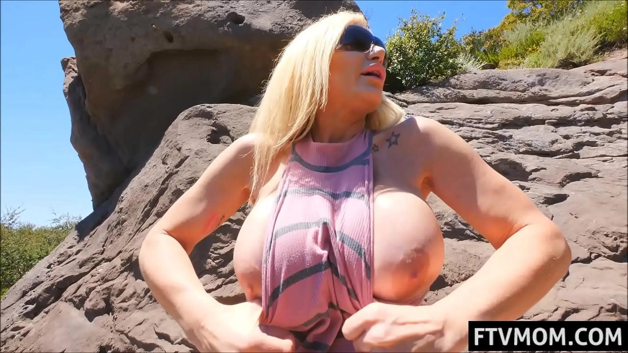 Milf flashes big tits in public Busty Blonde Milf Flashing Public Xvideos Com