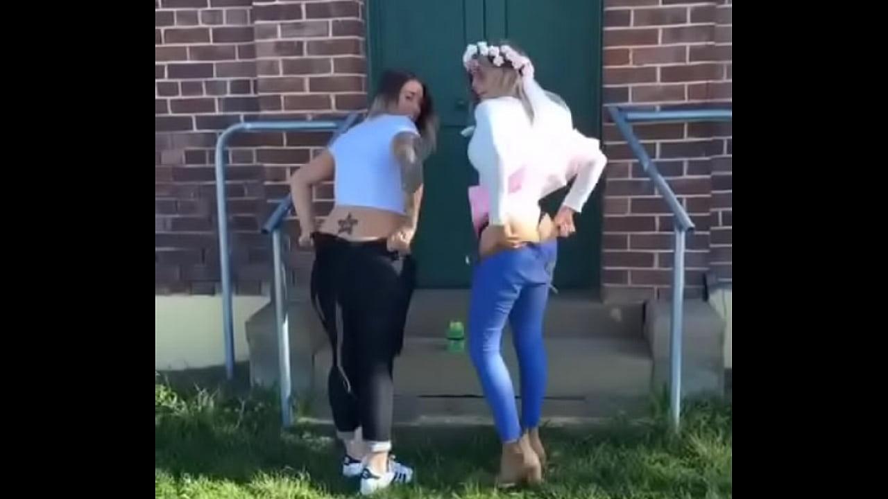 Two Cute Girls Mooning (Boomerang)