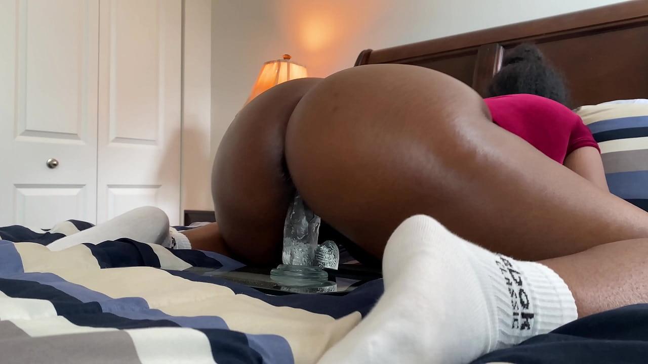 Ebony Riding Dick Creampie