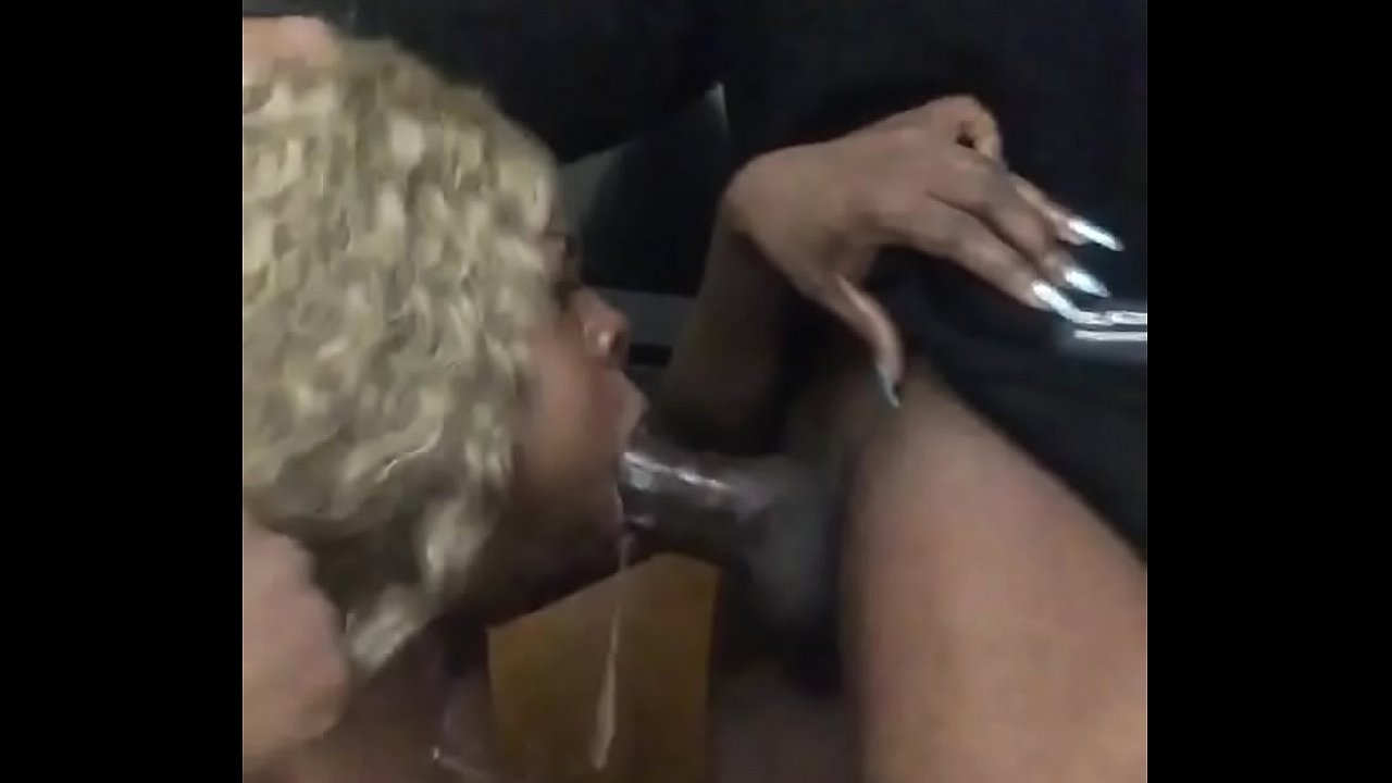 Ebony White Guy Blowjob