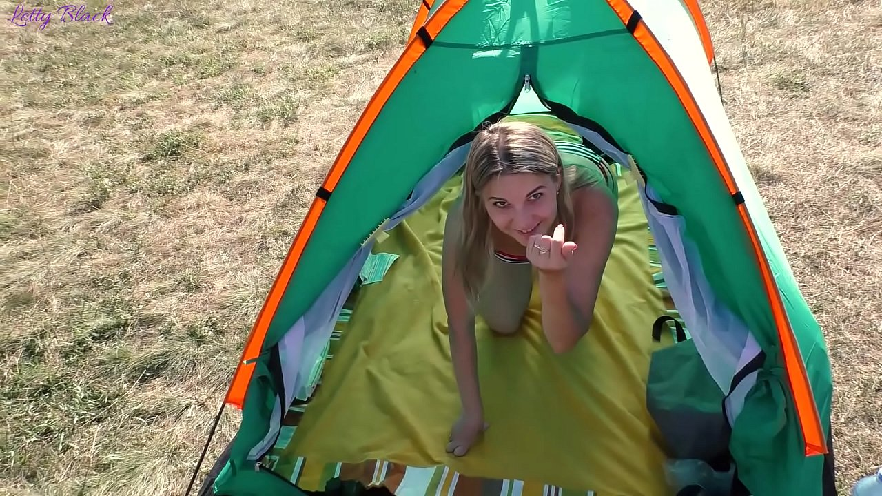 Risky Camping Blowjob Ends With Cum In Mouth - Letty Black  thumbnail
