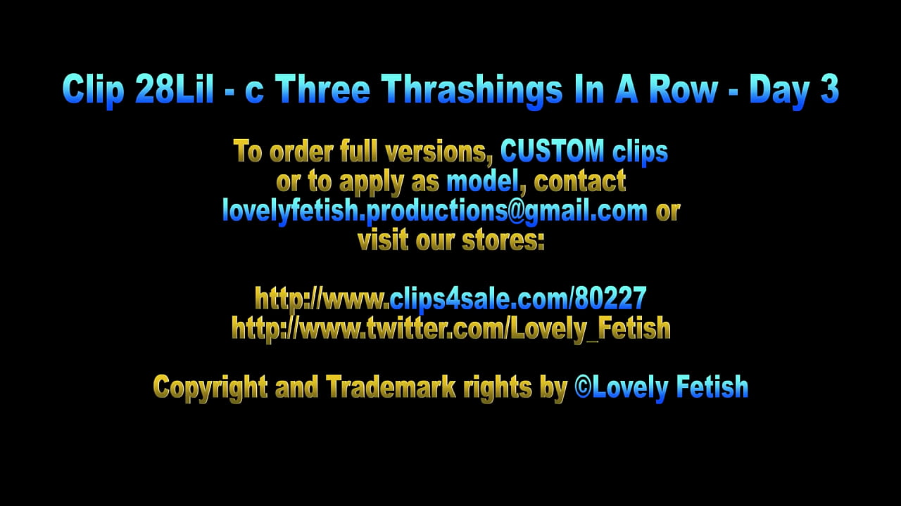 Clip 28Lil-c - Three Thrashings In A Row - Day 3 - Vollversion Sale: $10
