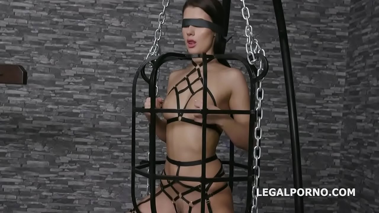 Caged with Nicole Black, 4on1 Balls Deep Anal, DAP, Gapes and Facial GIO1329