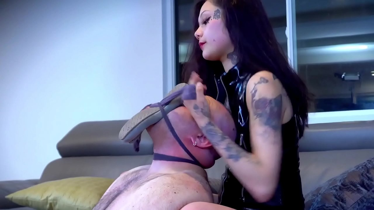 Asian Doninatrix Porn choking my foot pig-stunning, tattooed 21 yr old asian