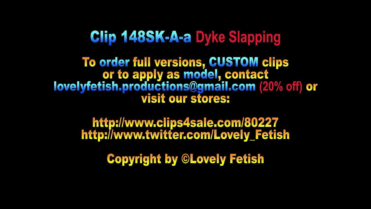 Clip 148SK-A-a Dyke Slapping And Whipping - 06:14min, Sale:$5