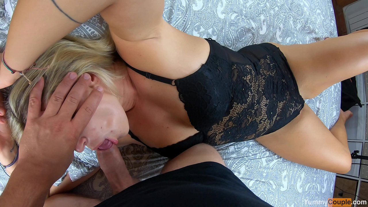 TRIPLE POV Cumshot after 3 InTeNsE Orgasms 4 HOT MILF- Looong Blowjob, Huge Cum Load on Tits - YummyCouple