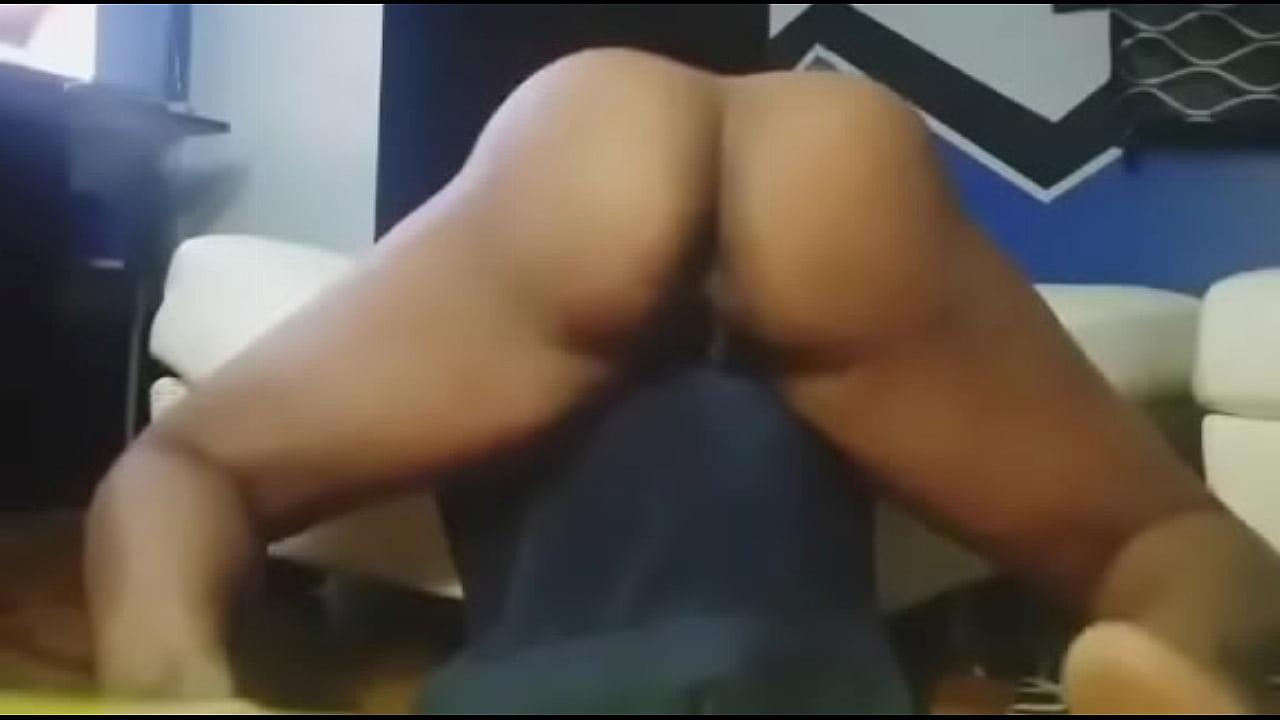 Ebony Watching Porn Orgasm