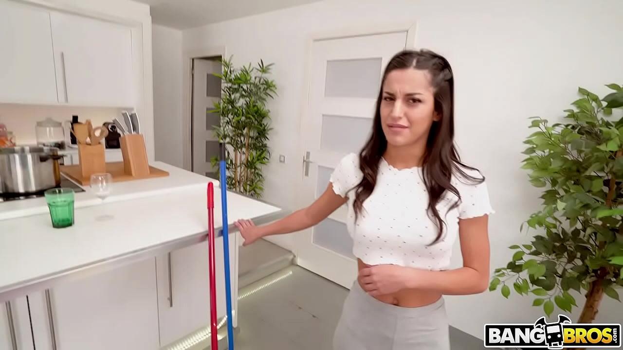 BANGBROS - Slutty Spanish Maid Natasha La Piedra Taking Dick From Client Alberto Blanco For Extra Pay