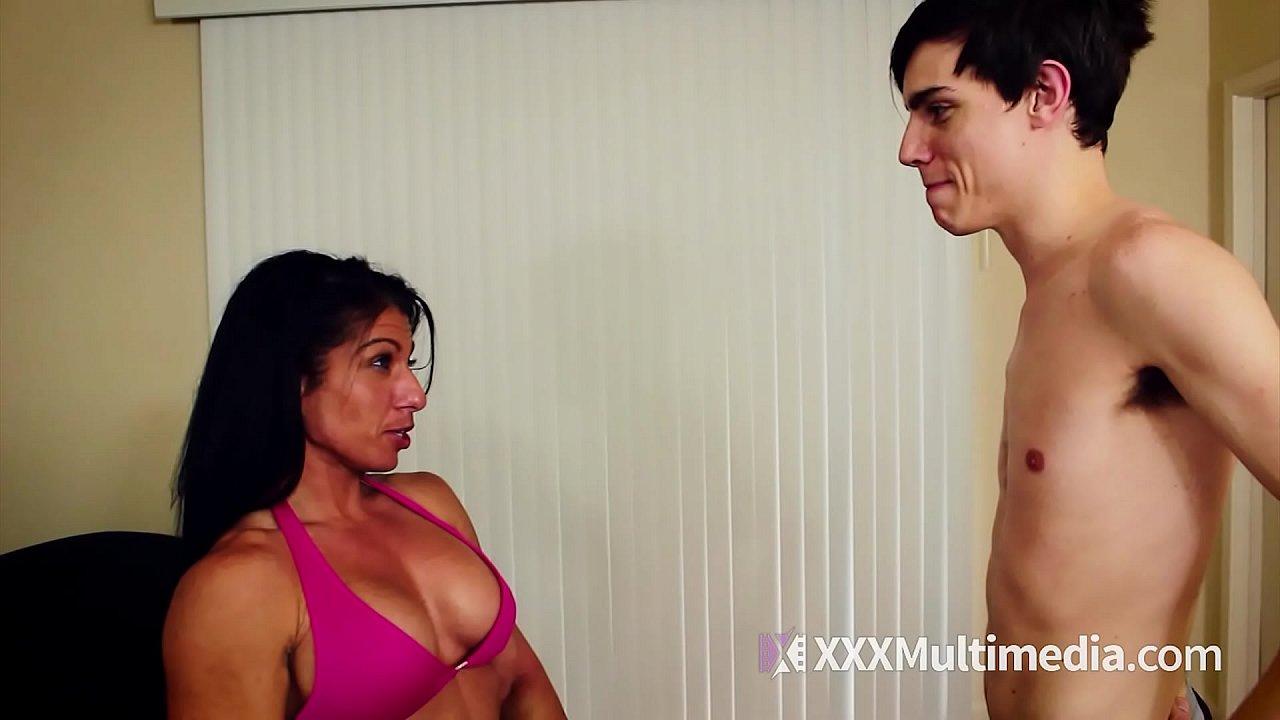 Alexis Rain Wrestling Skinny Man Rematch