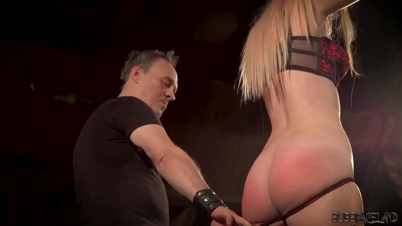 big tit blonde punished