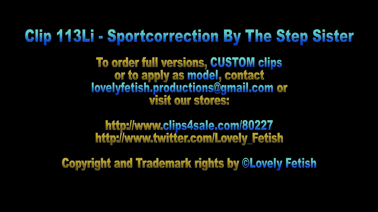 Clip 113Li Sportcorrection By The Step-Sister - Full Version Sale: $8