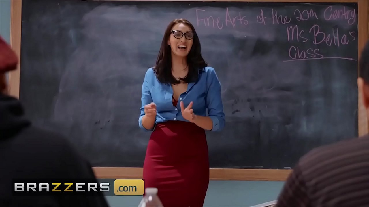Goddess (Bella Rolland) Swallows A Big Cock In Class - Brazzers