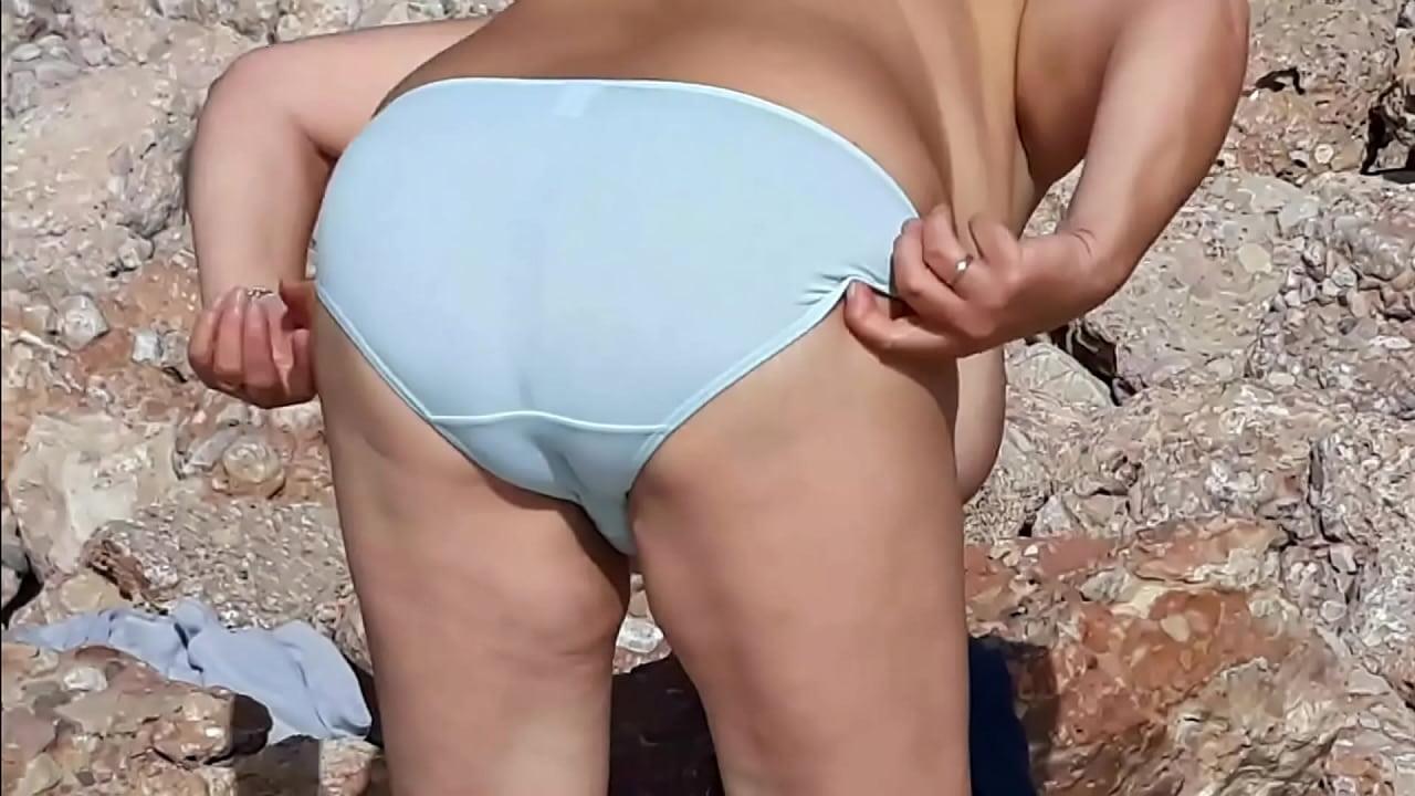 Striptease Porn Wife Beach