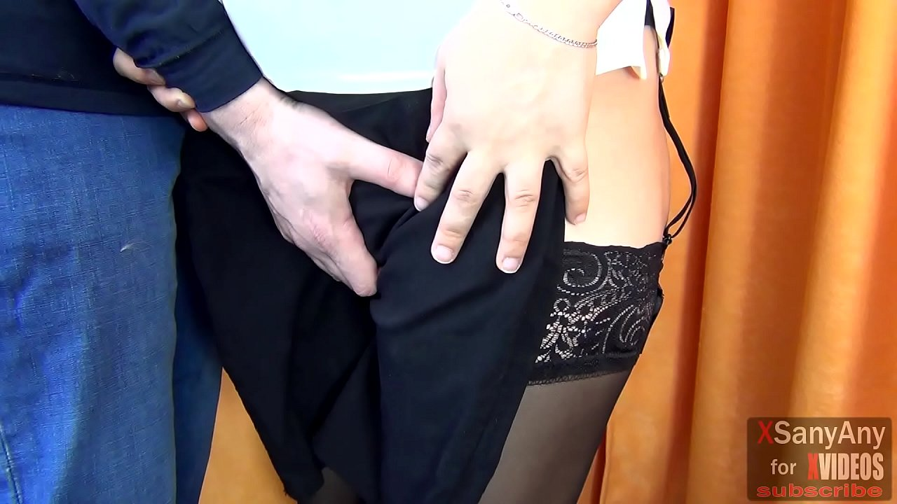 PUBLIC HANDJOB CUM ON PUSSY TO A STRANGER IN THE DRESSING ROOM IN STOCKING- XSANYANY