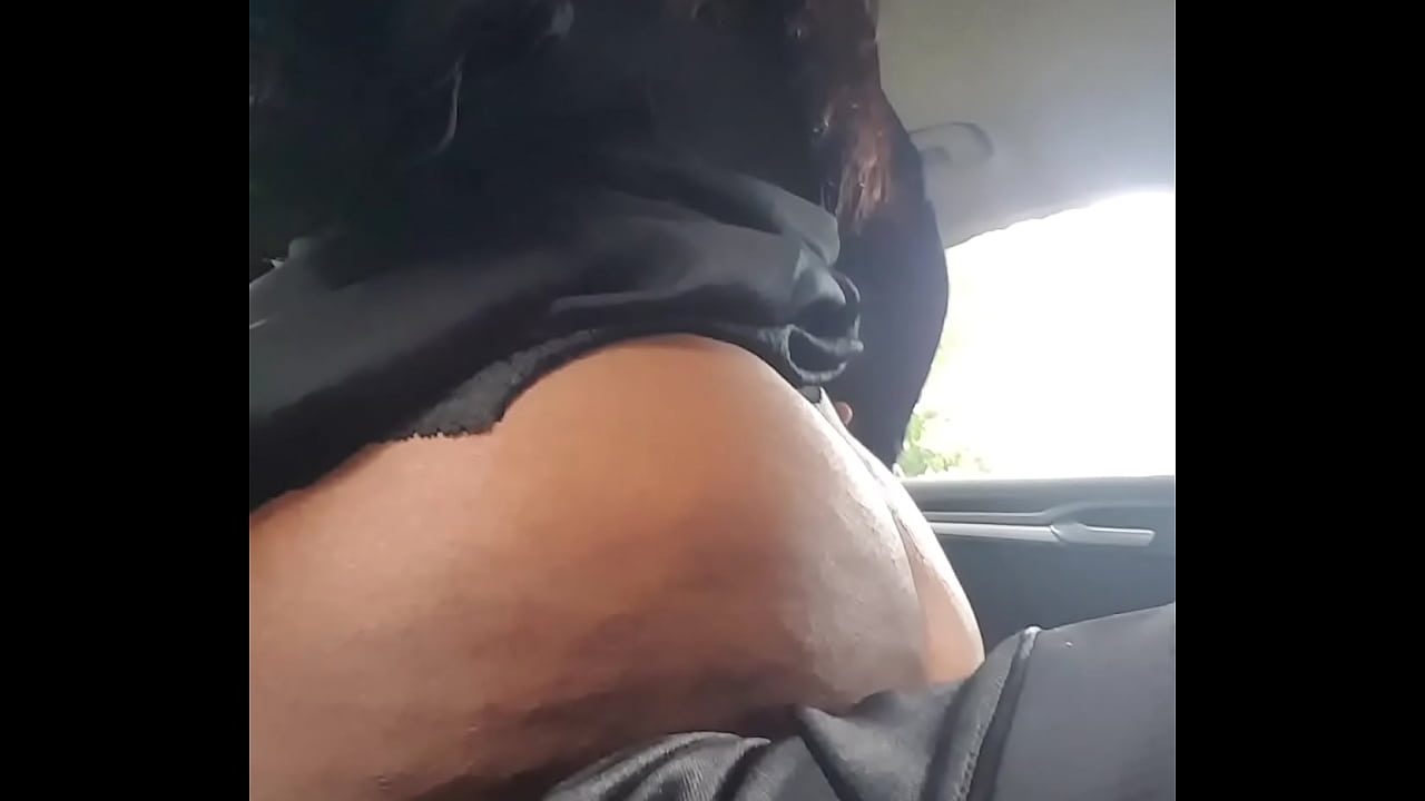 Big Booty Riding Dick The Car