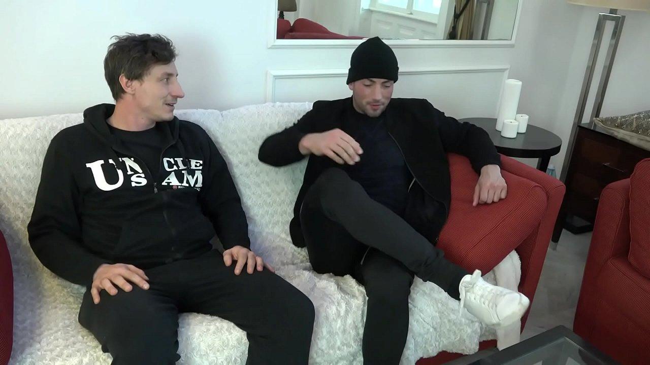 2 guys fucking the ass of a strong Russian girl