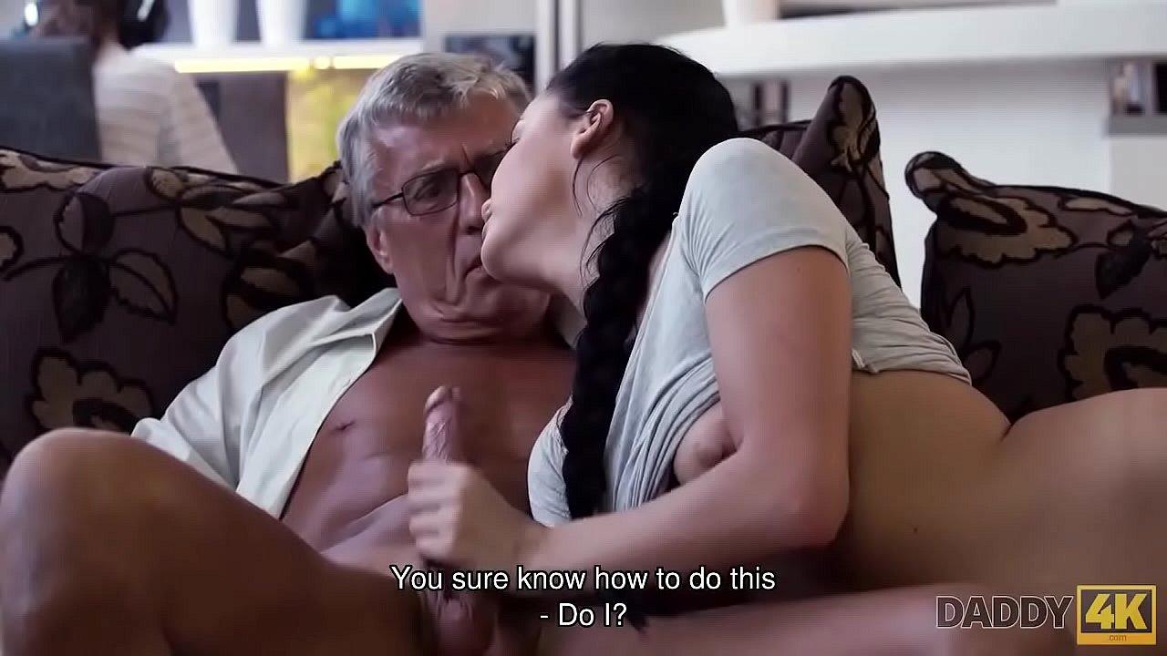 Amateur Teen Sucks Old Man