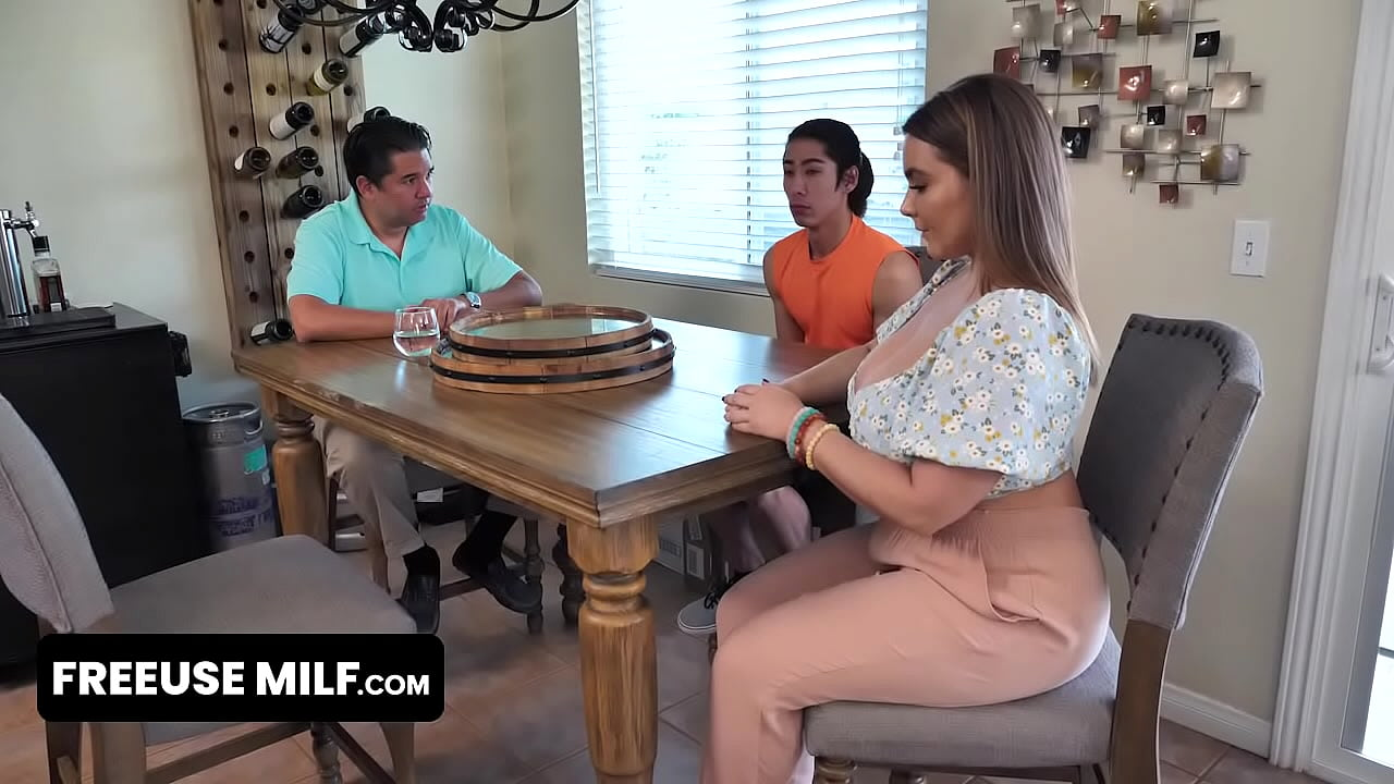 Lucky Boy Finds Out He Is Adopted And Can Take Advantage Of His Big Boobed Stepmom Any Time He Wants