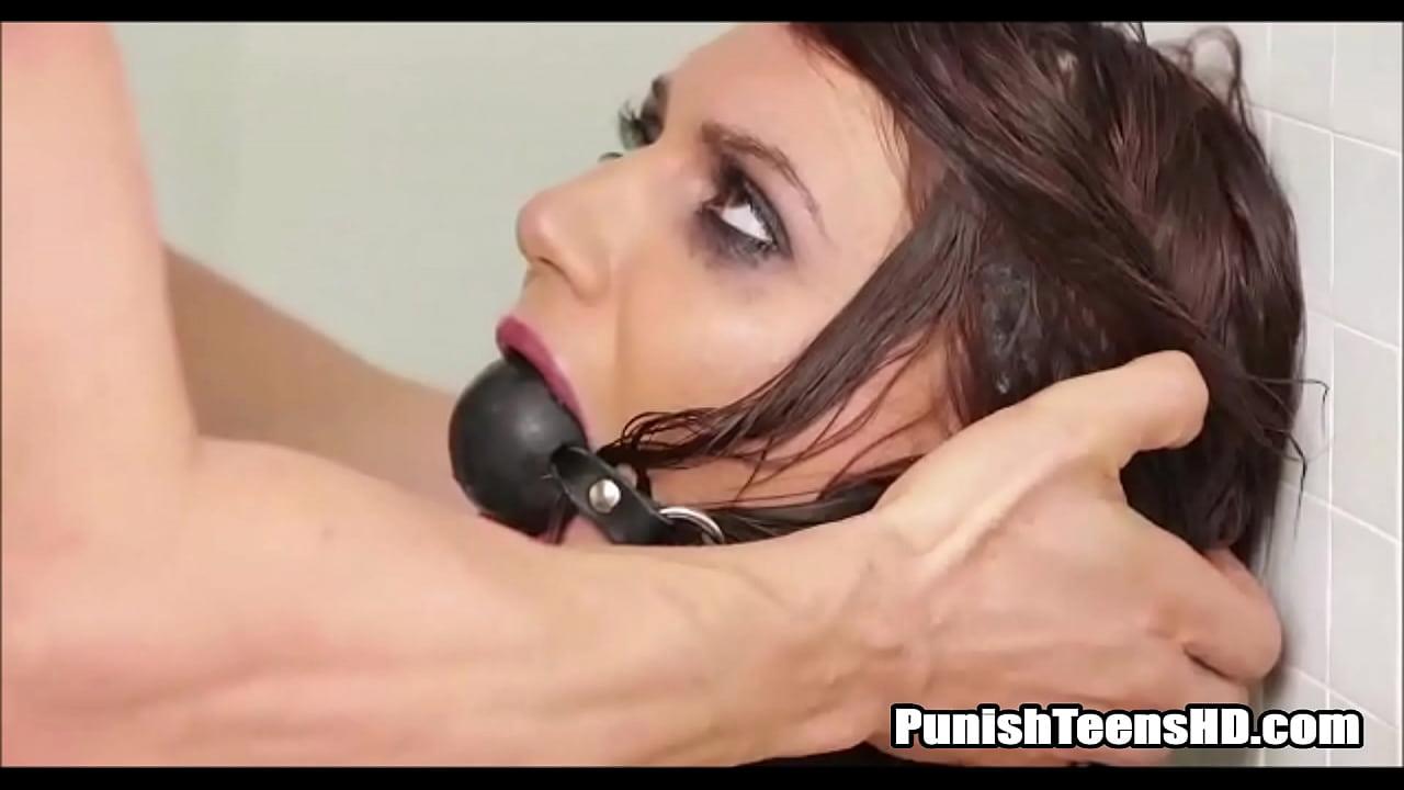 Brunette Teen Gagged Filthy Rough Fuck - PunishTeensHD.com