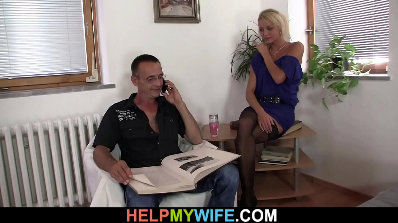 Young guy doggy-fucks his hot blonde wife for money