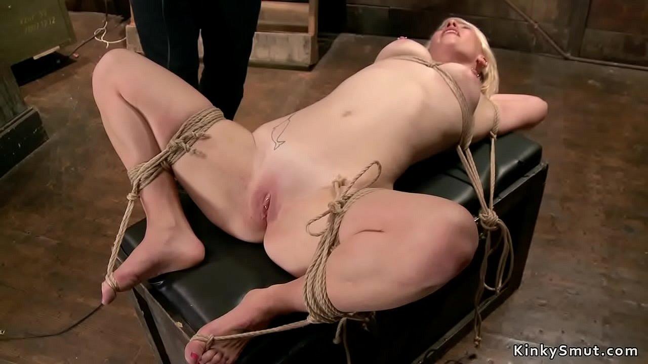 Blonde Ball Gag Bondage