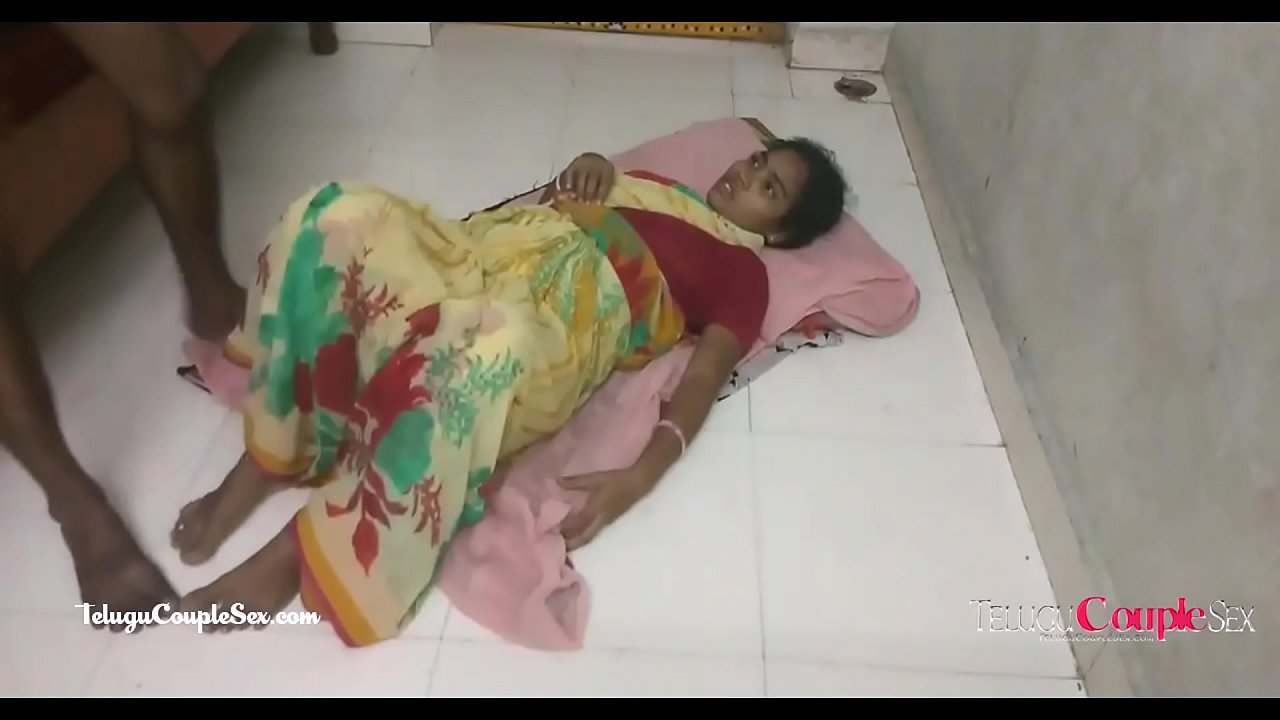hot telugu aunty hardcore amateur sex on the floor with her horny husband
