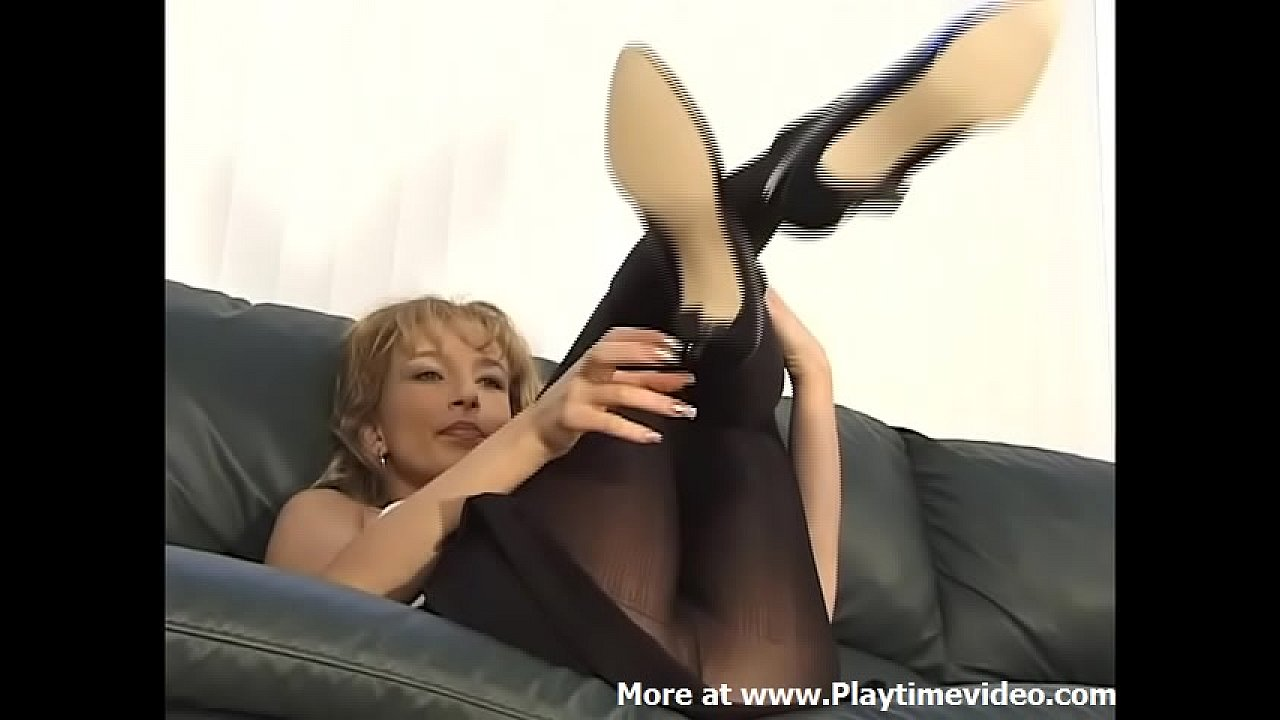 Kelly O'Dell 90's Pornstar Pure Sexual Energy Glossy Ribbed Pantyhose SOLO JOI!