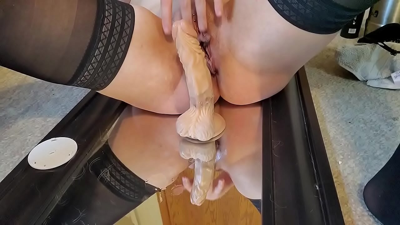 Wife Rides Dildo Squirts