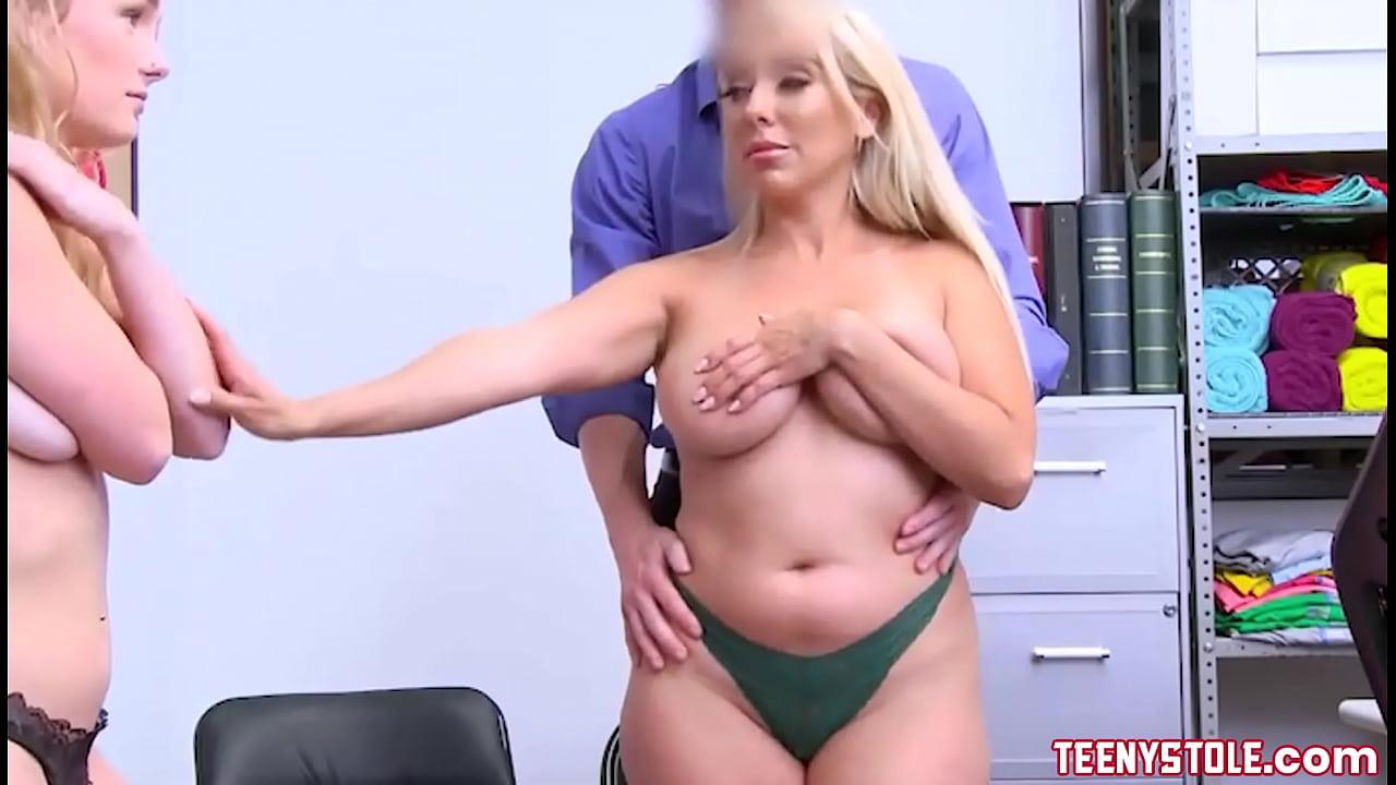 Big Tits Blonde Jeans Shorts