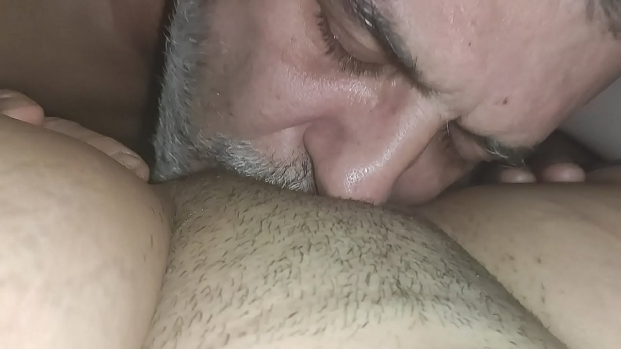 Man Licks Horny Woman's Pussy and Gives Him So Much Pleasure