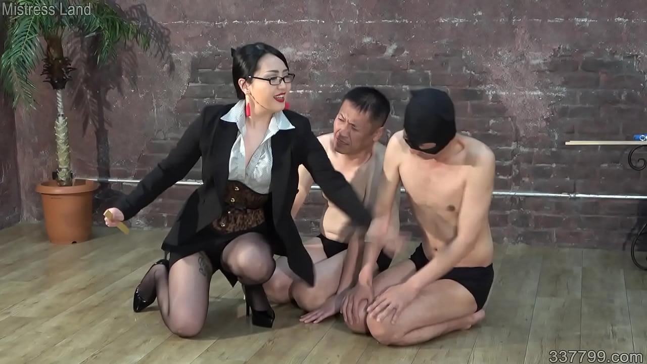337799 Porn japanese dominatrix hitomi aoto trains two masochist men