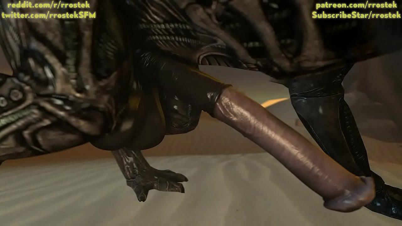 Samus Aran On a Strange Alien Planet Being Fucked By Xenomorphs