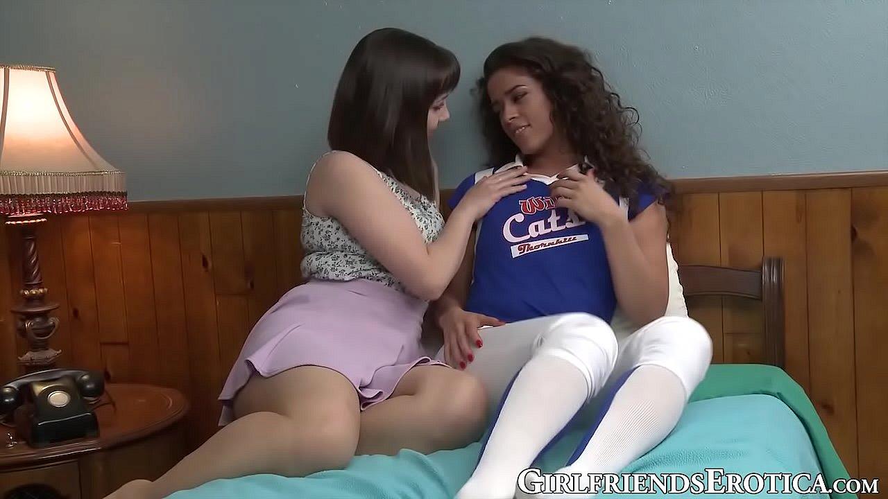 Sensual MILF fucks young mestizo girl and licks her cunt