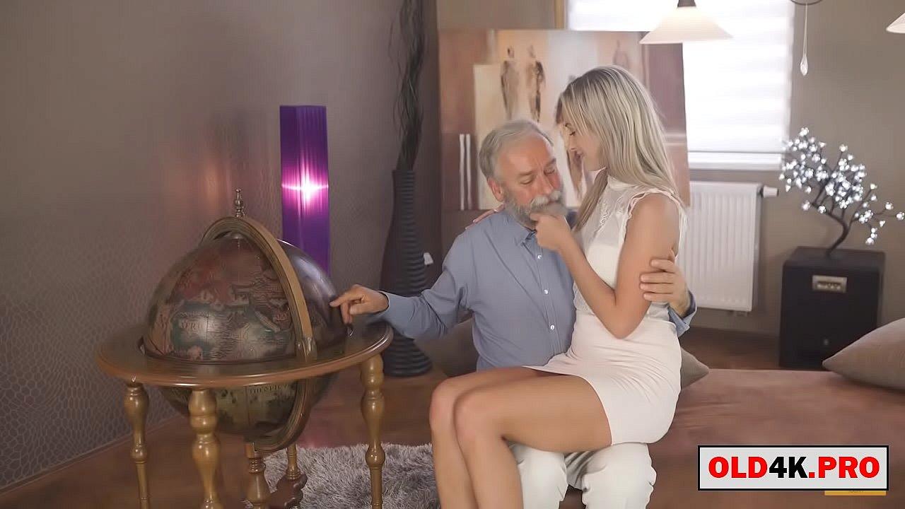 grandpa teaches the blonde college girl