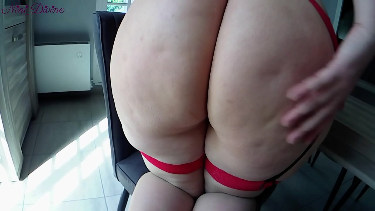 Sexy red lingerie on this huge juicy ass French PAWG!  thumbnail