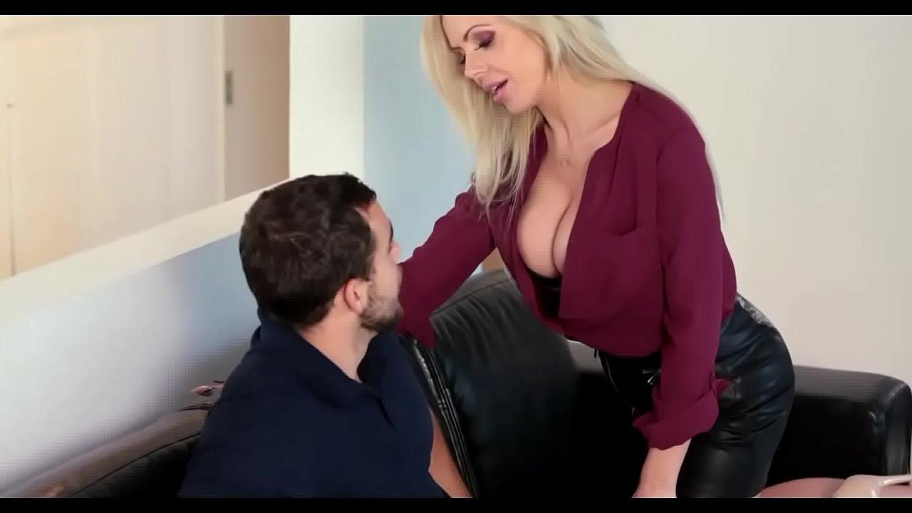 Blonde Milf Seduces Young Man