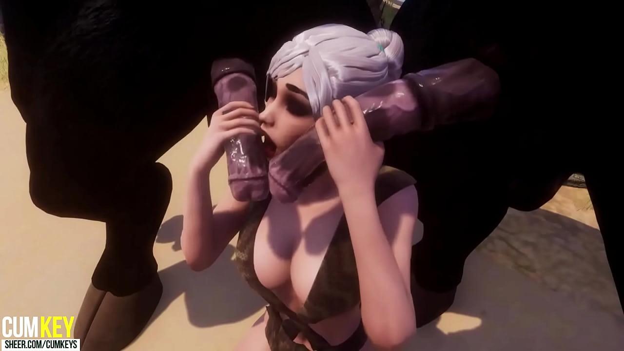 Horse hentai 3d Lara Croft