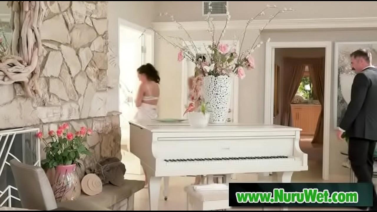 Shower before nuru massage - Charles Dera, Dana De Armond