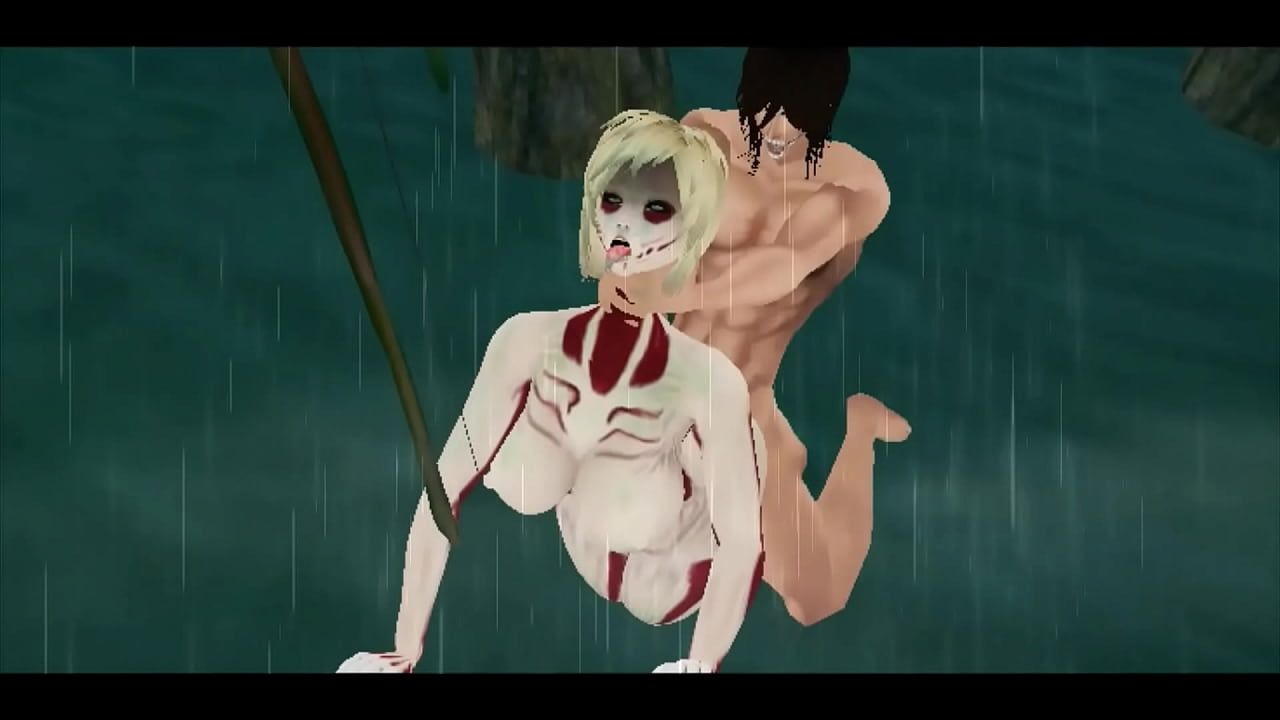 Gay Attack On Titan Porn attack on titan female titan fucking with eren titan / imvu