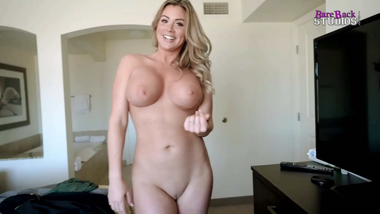 Blond Big Tit Stepmom Blowjob