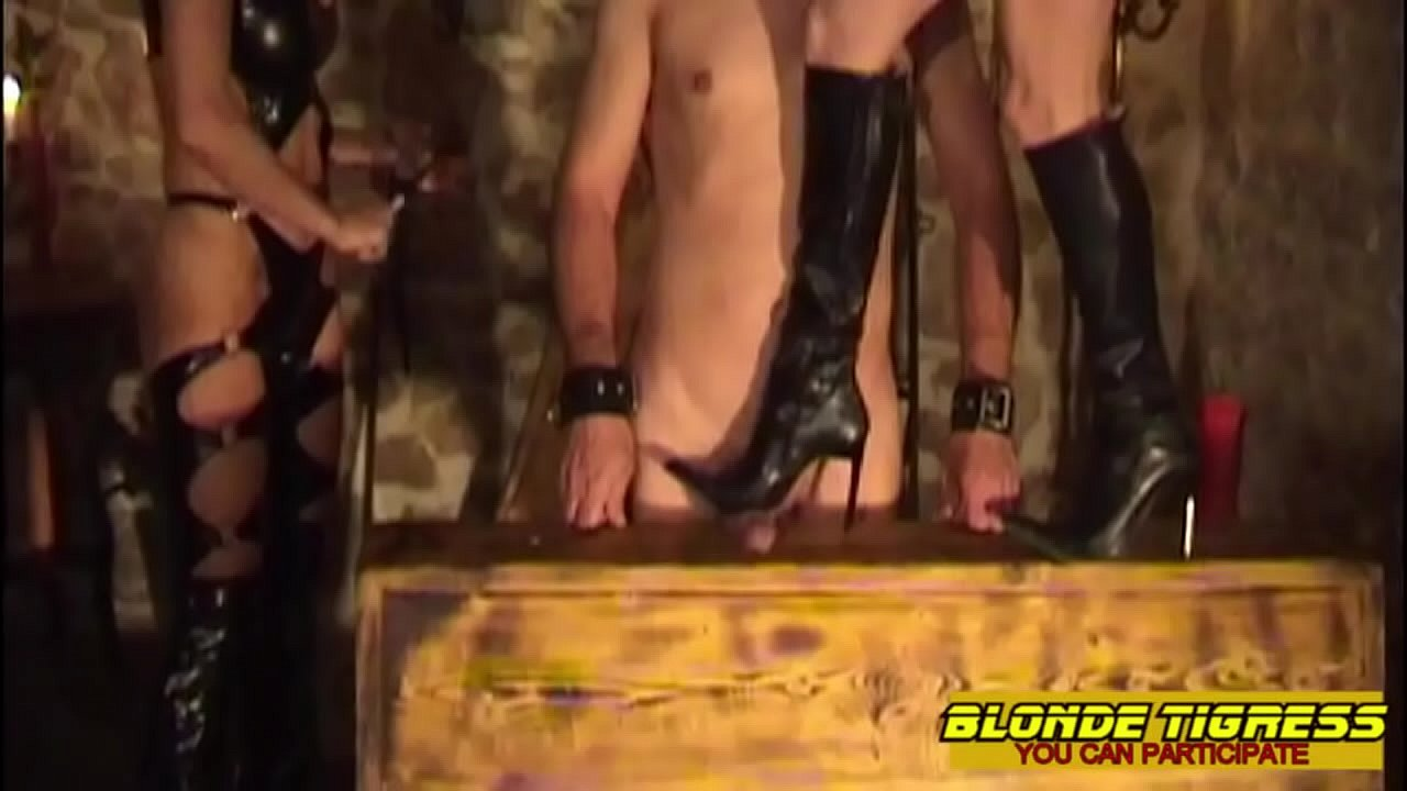 2 amateur dominas and their anal slave  thumbnail