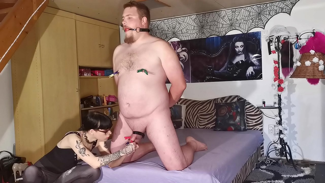 Slave domina with Inside the