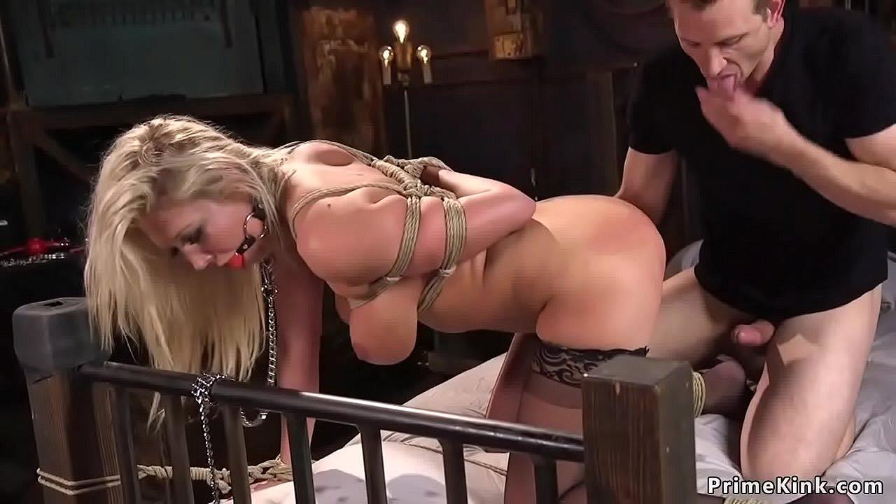 Big Tit Blonde Bondage Fucked