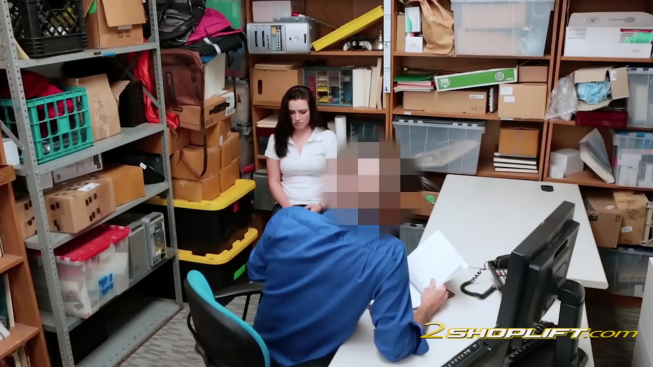Raven is placed on officers desk and banged with no mercy