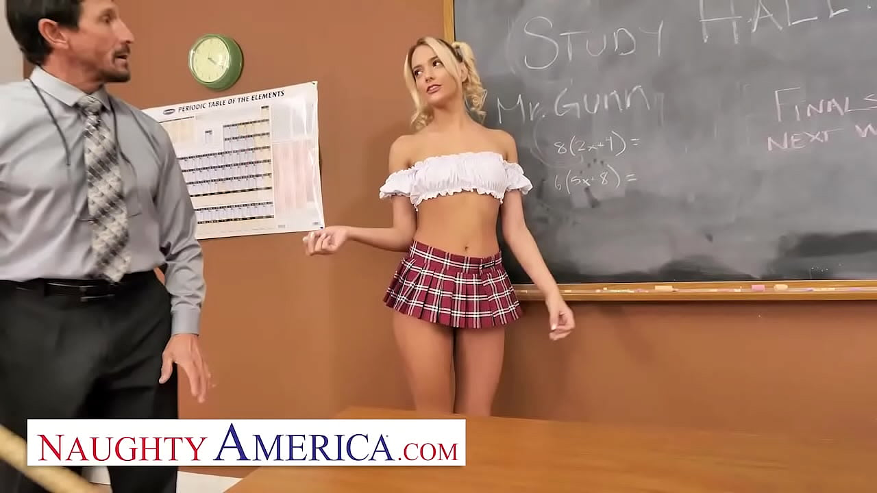 Naughty America - School girl Kenna James wants to major in sexual education