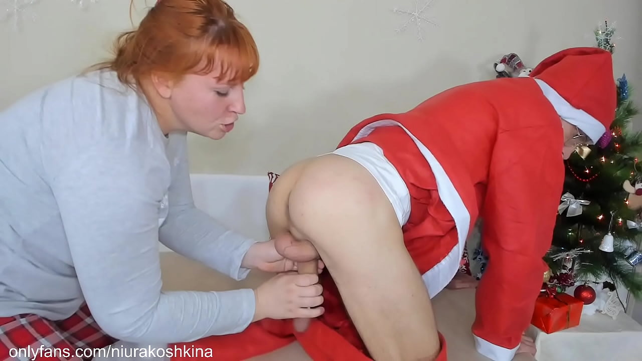 Mommy Caught Santa And Milked All The Cum Out Of Him